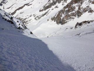 neve da sogno nella parte alta