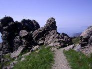 Intaglio roccioso presso il Passo Gavetta