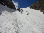 Ottima sciata nella zona bonificata del canale Monache