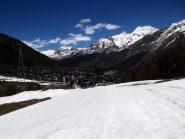 neve fino a Saas Fee