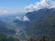 Panorama verso la pianura, a dx Cavallaria, Colme e Gregorio