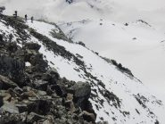 Scendendo dalla cresta di vetta