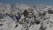 Uno scoglio nero tra le nevi (Becco meridionale della Tribolazione)