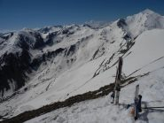 dalla vetta, vista verso l'alto vallone del Puriac