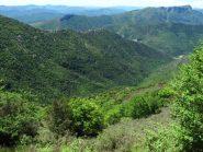La Valle Auzza vista dall'alto