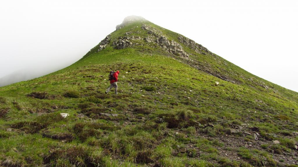 dal Passo della Mezzaluna verso il crinale Sud del Monte Donzella (19-5-2013)
