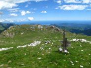 Dall'Armetta vista verso il Mar Ligure e il sentiero di arrivo