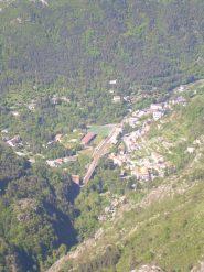 Vista di Sant Dalmas de Tende dalla punta del Chaberta.