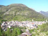 Vista dall'alto dell'abitato di Briga.