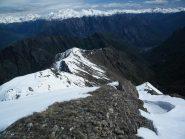 La cresta tra Mont Digny e Mont Giavin