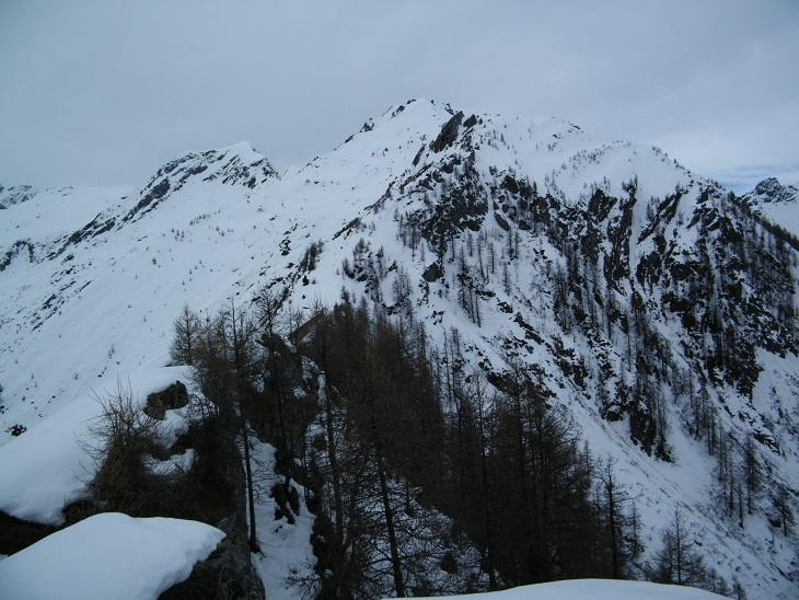 Il Mont Giavin visto dal Digny, al mattino