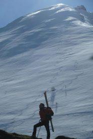 alpinista e parete