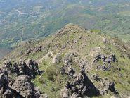 La cresta finale vista dalla vetta