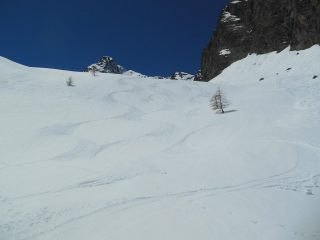 Ottima neve primaverile nel vallone delle Scolettas