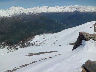Vista Val Susa e itinerario salita