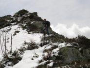 Franco nella parte finale della cresta