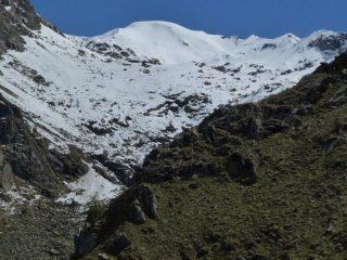 Vallone di Canaussa e al centro il Monte del Prà