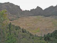 Il cratere di Cova, vulcano inattivo