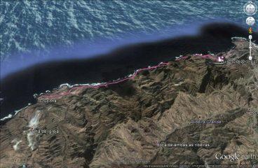 L'itinerario su Googlearth