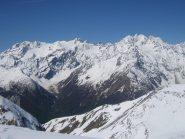 vista sul massiccio des Ecrins: Monte Pelvoux e Barre des Ecrins