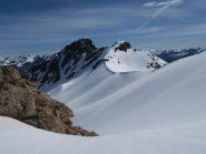 saledo all'antecima , vista sul Colle Panieris e il Monte Peiron