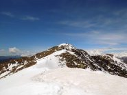 la cima vista dalla cresta
