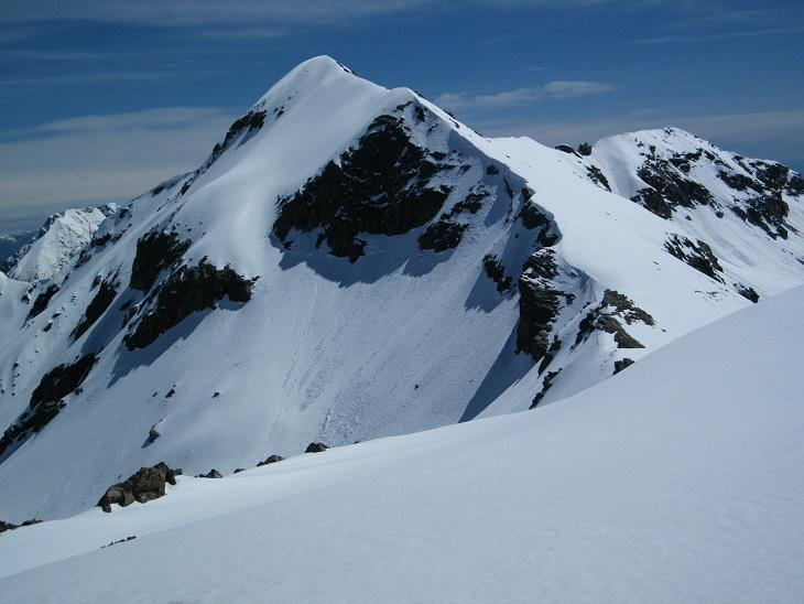 La cresta per la PIetra Bianca vista dalla P.ta Marmontana