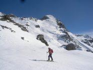 Dani sale al Col di Fenis..