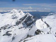In sequenza da sx a dx Glacier Dela' e Moussaillon ..dalla Torre Pontonnet (3173m)