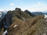 la cresta percorsa con Fera' e Rocca