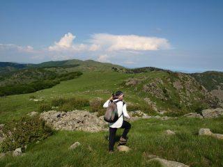 Vista da Cima del Pozzo, verso Cima Giassetti e Pian di Lerca