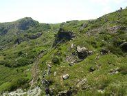 Vista dalla Cappelletta degli Alpini, sulla sinistra Monte Sciguelo