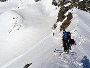 Dalla sella del paletto verso monte