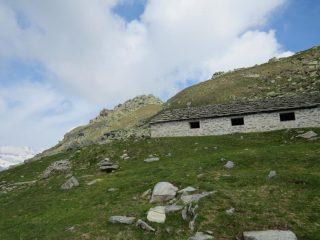 Arrivo all'Alpe Giua sup. e dorsale a blocchi di q.ta 2220