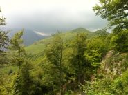 L'Alpe Belvedere in lontananza