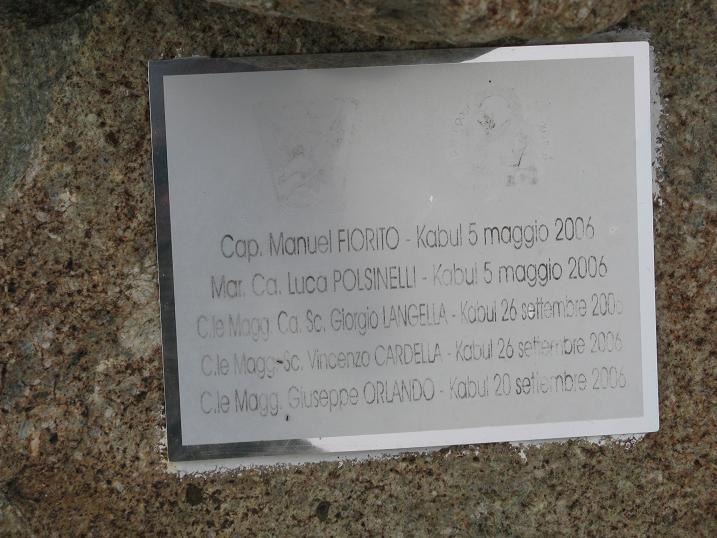 in memoria degli Alpini della Cuneense morti in Afghanistan