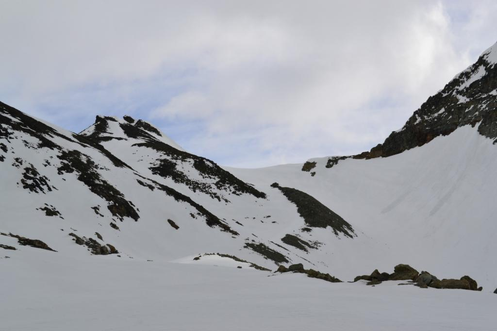 in vista del Colle di Chardoney (Troume des Boucs a sinistra)