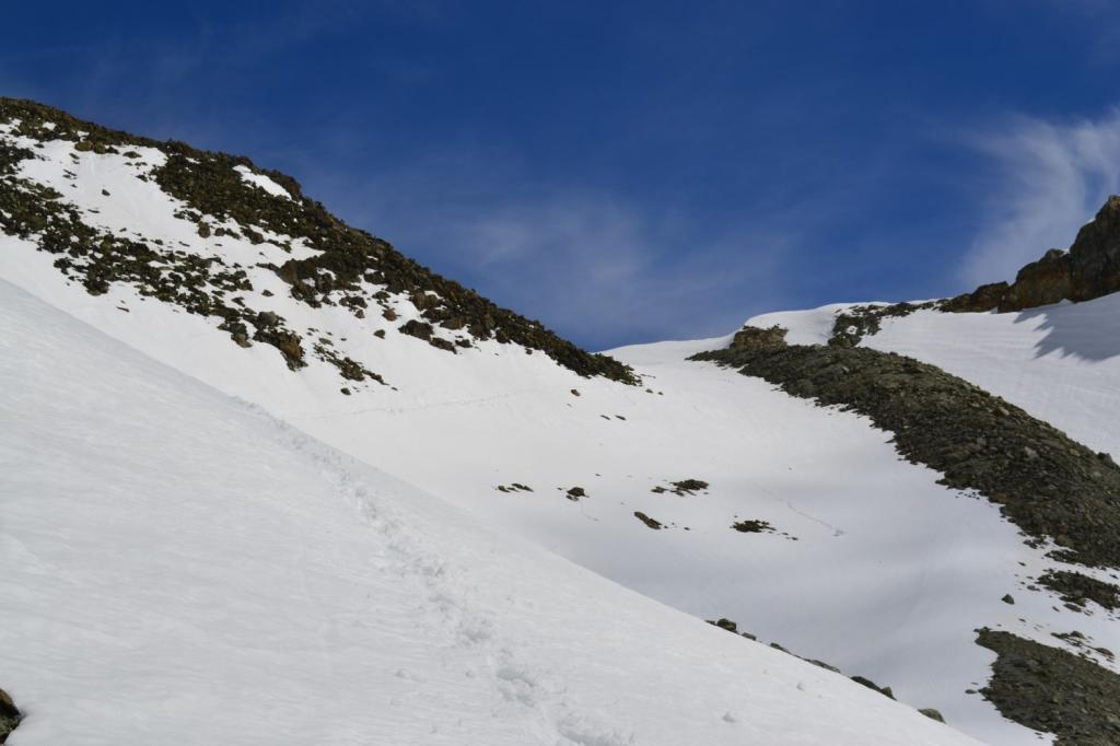il traverso percorso in direzione del Colle di Chardoney