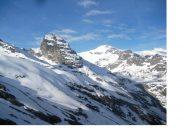 Il mont Seti' e l'albaron di savoia .dalle prime propaggini adducenti il Ghiacciaio del Mulinet
