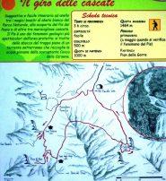 cartello con l'itinerario