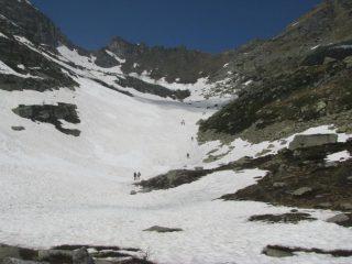 Parte alta ancora su neve