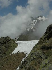 Il muro di neve prima della cima
