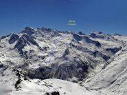 Foto dell'itinerario presa dall'Arp Vieille nel lontano 2003