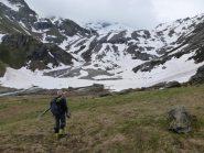 Neve a 2300m nel vallone di Invergnan