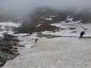 Salita su lingua neve alla prima morena