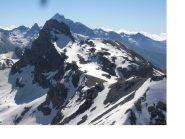 Il Roc de la Niera sullo stesso asse col Monviso dalla Farneireta