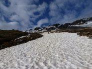 Sul percorso normale manca neve in alto
