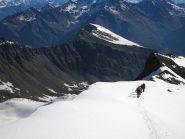Sul ghiacciaio di Gran Val
