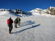 Sul ghiacciaio del Loson