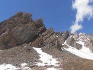 03 - ai piedi degli strapiombi del Mont Berrio Blanc